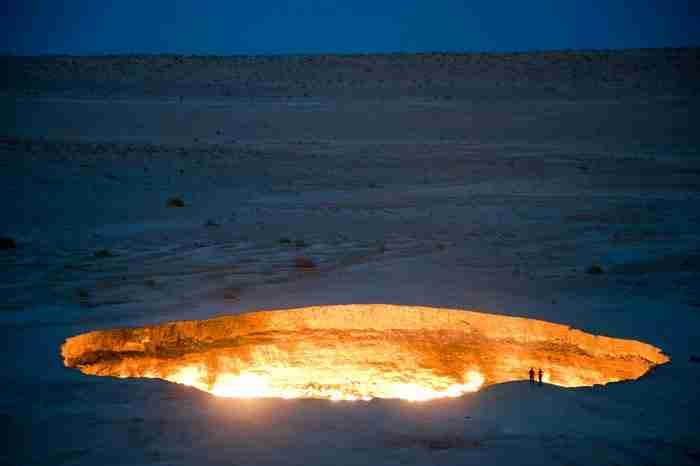 Η πύλη της κόλασης, Τουρκμενιστάν