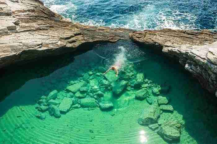 Λιμνοθάλασσα Γκιόλα, μια φυσική όμορφη πισίνα κοντά στο χωριό Αστρίς της Θάσου