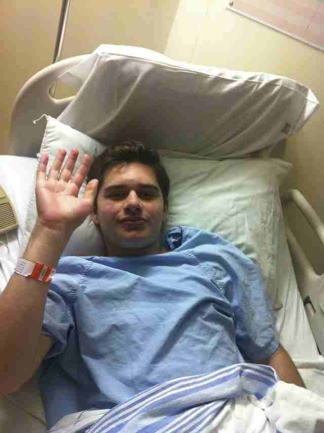 Ο Michael μετά την πρώτη του χημειοθεραπεία.