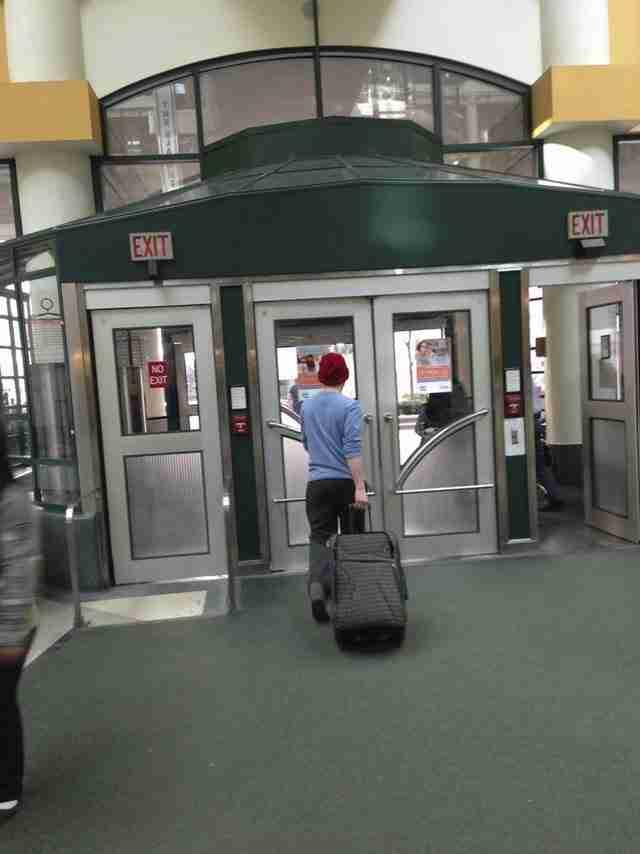 Ο Michael στην επιστροφή του στο σπίτι!