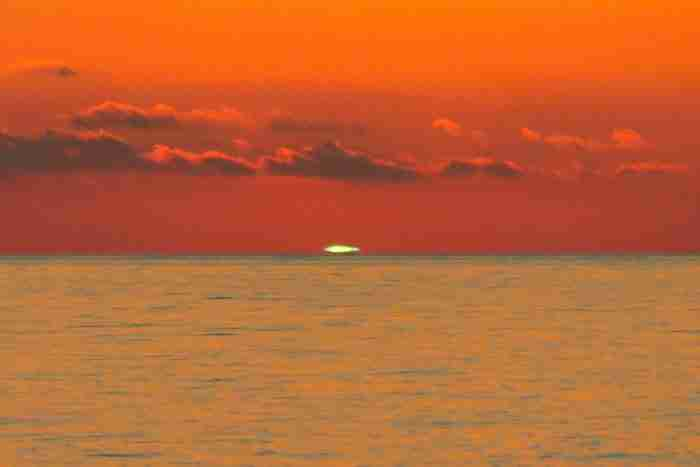 Πράσινο ηλιοβασίλεμα