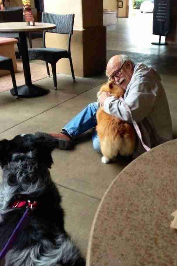 Αυτός ο παππούς που μόλις απέκτησε ένα πιστό φίλο για το υπόλοιπο της ζωής του!
