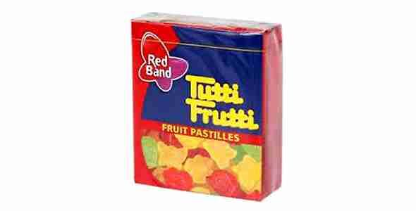 Οι παστίλιες Tutti Frutti που κόλλαγαν στα δόντια πάντα.