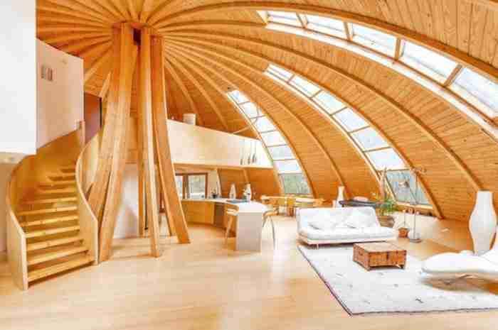 Το προκατασκευασμένο σπίτι είναι μια δημιουργία της γαλλικής εταιρείας  DomeSpace.