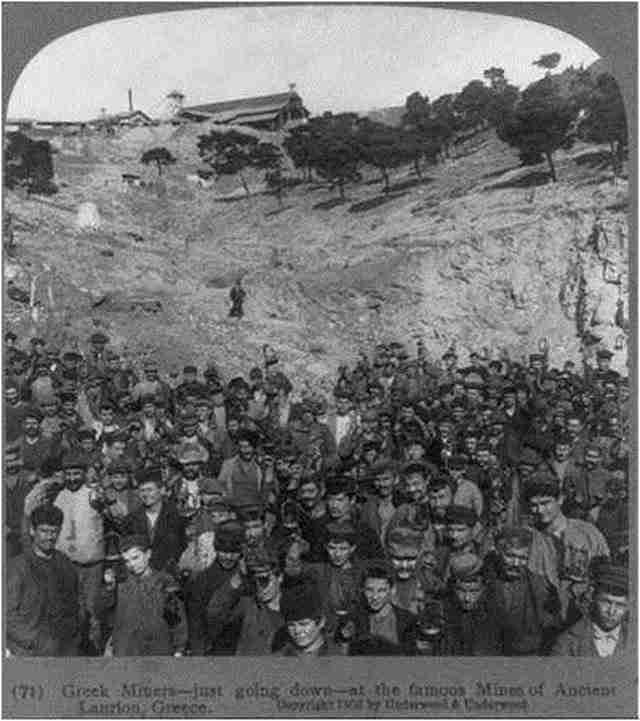 Μεταλλωρύχοι στο Λαύριο 1903