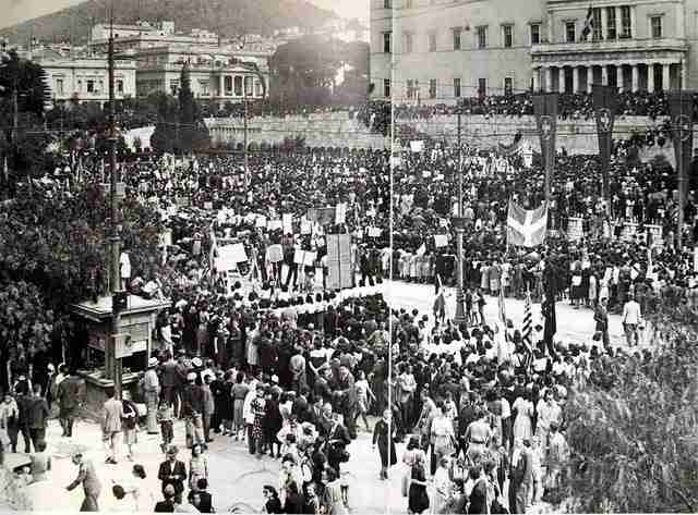 Ένα μπαλκόνι από το οποίο εκφωνήθηκε ο λόγος της Απελευθέρωσης:
