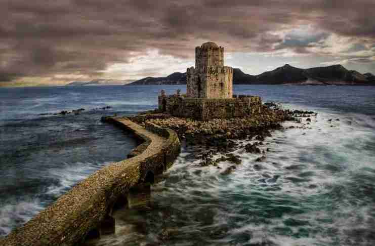 Το κάστρο της Μεθώνης στη Μεσσηνία της Πελοποννήσου