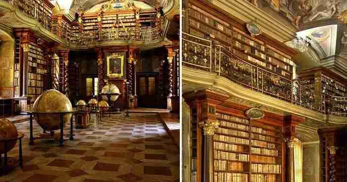 Η πιο όμορφη βιβλιοθήκη του κόσμου βρίσκεται στην Πράγα!