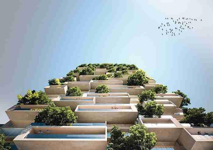 Κτίριο ύψους 117 μέτρων που χτίζεται στη Ελβετία θα είναι το πρώτο κατακόρυφο δάσος στον κόσμο