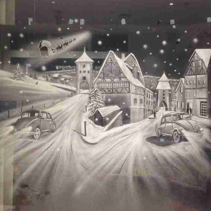 Καλλιτέχνης ζωγραφίζει το θαύμα των Χριστουγέννων στα παράθυρα ενός νοσοκομείου για παιδιά