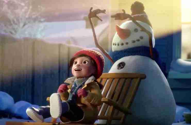Η όμορφη φιλία ενός κoριτσιού με τον χιονάνθρωπο της, ξεκλειδώνει τη μαγεία των Χριστουγέννων