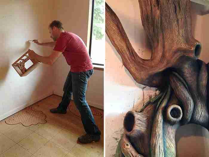 Eπί 18 μήνες έφτιαχνε το δωμάτιο της κόρης του. Το τελικό αποτέλεσμα θυμίζει παραμύθι!