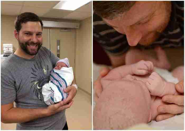 18 συγκινητικές φωτογραφίες μπαμπάδων που βλέπουν τα μωρά τους για πρώτη φορά.