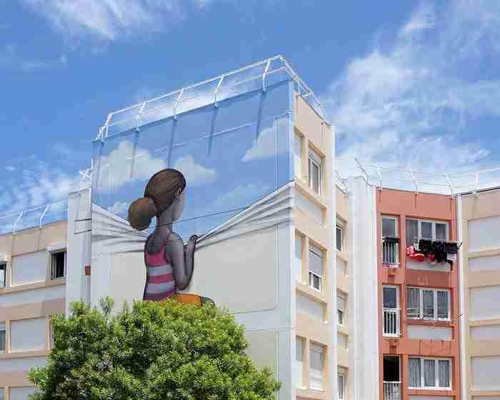 Καλλιτέχνης μεταμορφώνει βαρετά κτίρια από όλο τον κόσμο σε όμορφα έργα τέχνης