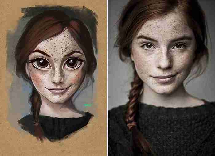 Καταπληκτικός καλλιτέχνης μετατρέπει φωτογραφίες αγνώστων σε χαριτωμένα καρτούν!