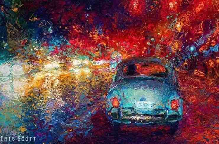 Ανακάλυψε αυτήν την τεχνική ζωγραφικής από ατύχημα... Και είναι καταπληκτική!