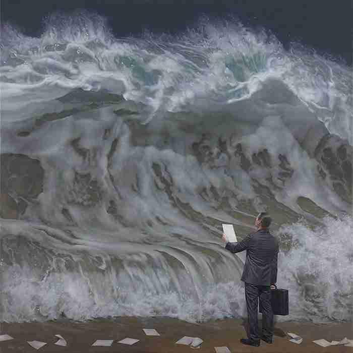 O ζωγράφος που… ζωντανεύει τη θάλασσα!