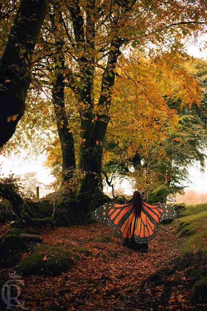 Αυτά τα αιθέρια κασκόλ σας επιτρέπουν να τυλιχτείτε με τα όμορφα φτερά μιας πεταλούδας