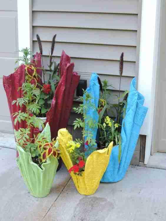 Φτιάξτε φανταστικές γλάστρες από τσιμέντο και πετσέτες! Υπέροχες ιδέες!