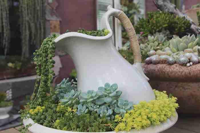 Δείτε πώς θα δημιουργήσετε γλάστρες με λουλούδια που χύνονται στον κήπο σας!