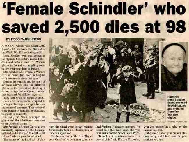 Ιρένα Σέντλερ: Η γυναίκα ήρωας που έσωσε 2500 παιδιά από τον θάνατο