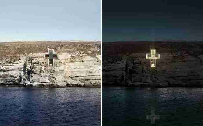 Εντυπωσιακό παρεκκλήσι σε σχήμα γυάλινου σταυρού θα κατασκευαστεί στη Σέριφο!