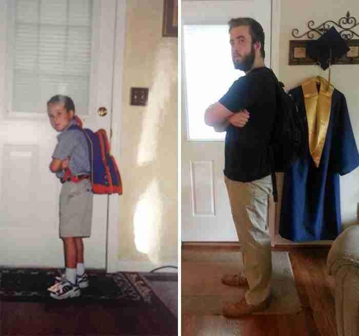 18 φωτογραφίες μαθητών από την πρώτη αλλά και από τη τελευταία τους μέρα στο σχολείο