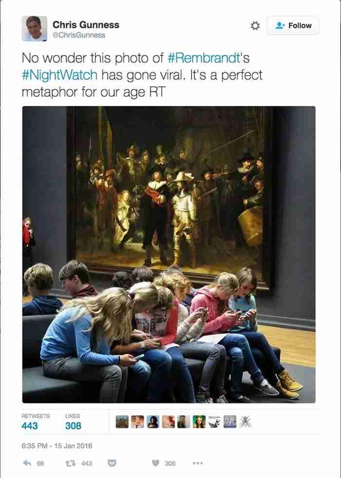Η διδακτική ιστορία της φωτογραφίας με τα παιδιά που «αγνοούσαν» τον Ρέμπραντ