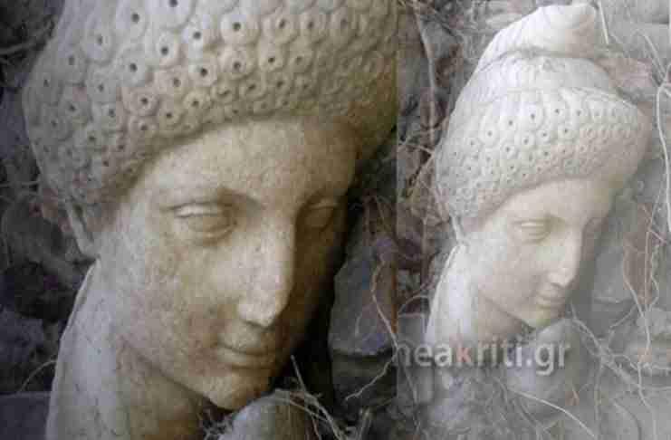"""Αγρότης στην Κρήτη βρήκε τυχαία σε ένα ρέμα αρχαιολογικό θησαυρό που """"ξέθαψε"""" η κακοκαιρία"""