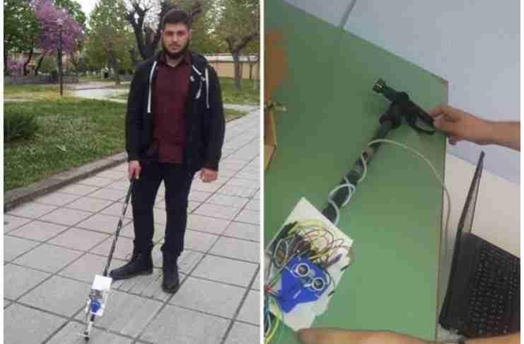 16χρονος μαθητής από την Ημαθία κατασκεύασε το πρώτο «έξυπνο μπαστούνι» για τυφλούς!