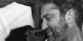 Ο Τζέραρντ Μπάτλερ υιοθέτησε έναν αδέσποτο σκύλο που συνάντησε τυχαία στη Βουλγαρία