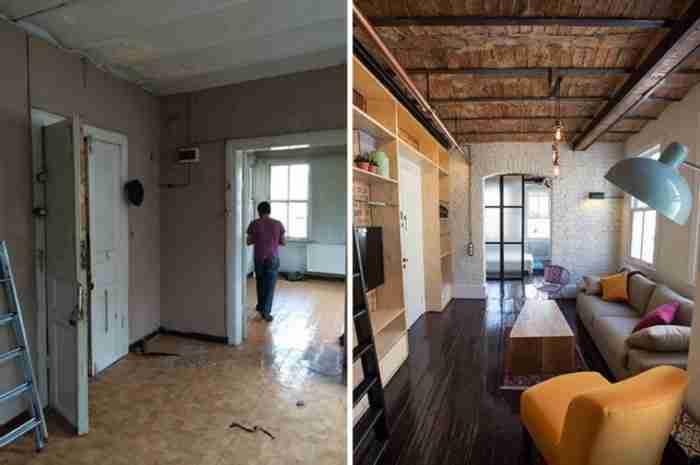 Πριν και μετά: Η μεταμόρφωση ενός ερειπίου του 19ου αιώνα σε υπέροχο, σύγχρονο διαμέρισμα